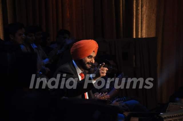 Navjot Singh Siddhu at Satyagraha's  Promotion on Comedy Nights with Kapil