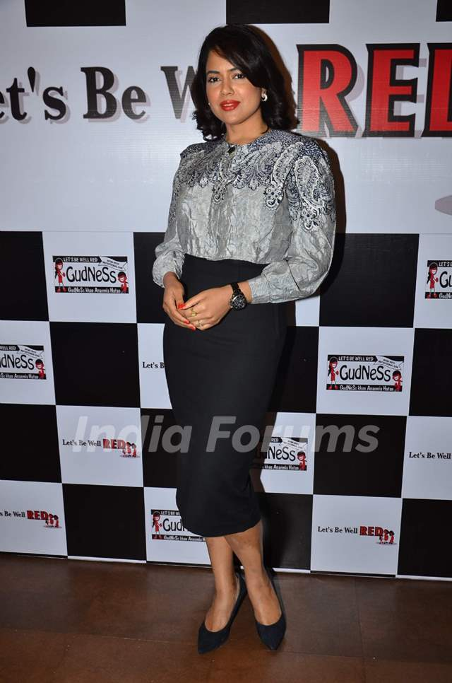 Sameera Reddy attends Lets Be Well Red's unique drive to fight Anemia in Women