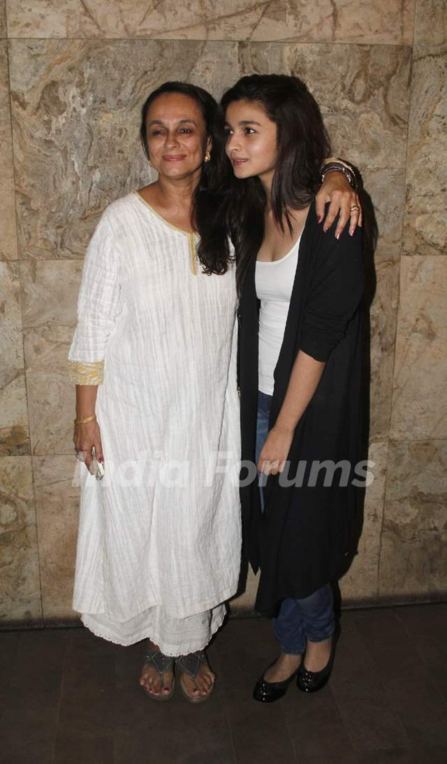 Alia Bhatt and Soni Razdan at the Special Screening of Citylights