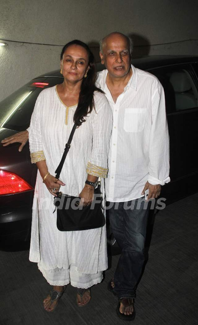 Mahesh Bhatt and Soni Razdan at the Special Screening of Citylights
