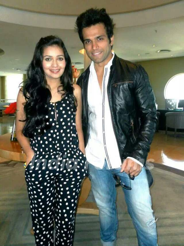 Rithvik Dhanjani and Mansi Srivastava in South Africa in June 2014