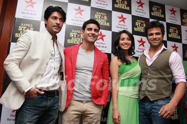Rithvik Dhanjani, Asha Negi, Gautam Rode and Anas Rashid promote Star Parivar Awards 2014