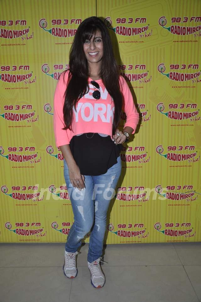 Khushboo Grewal at Radio Mirchi for the promotion of Pink Lips