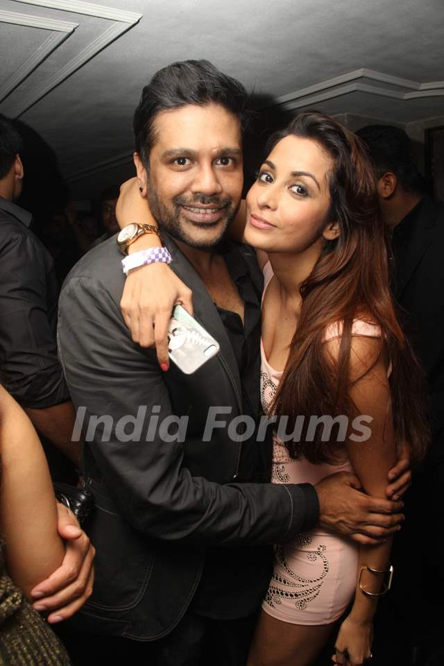 Rocky S with Madhura Naik at her Birthday Party