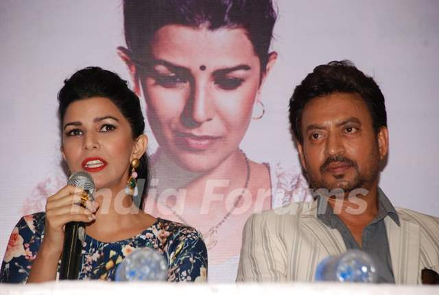 Nimrat Kaur was seen interacting with the audience at the DVD Launch of Lunchbox