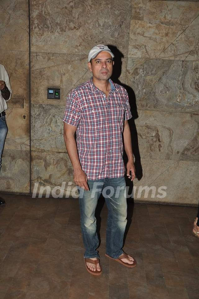 Atul Agnihotri was seen at the Screening of Singham Returns