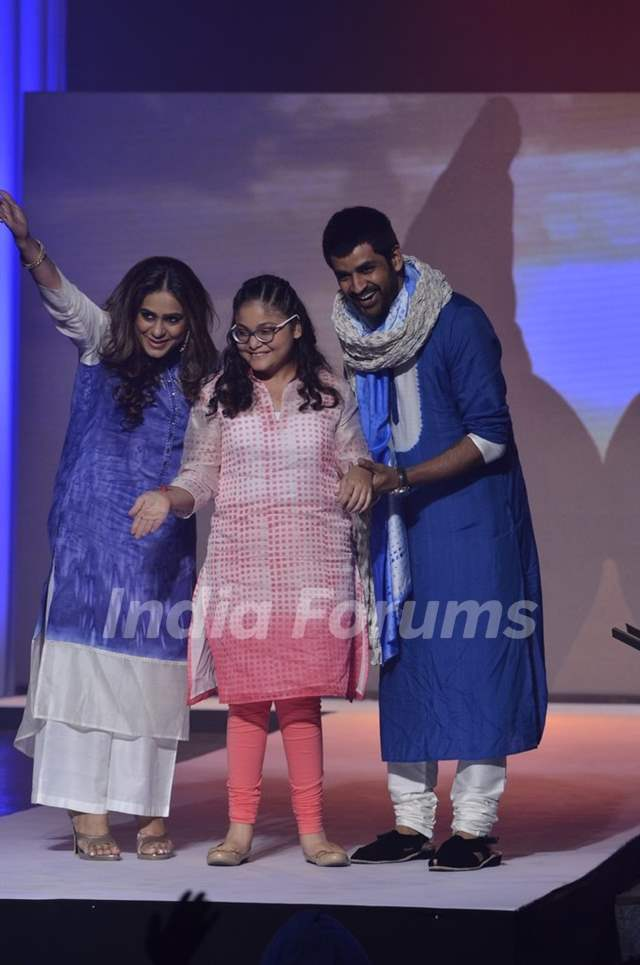 Poonam Narula and Manish Goel walk the Ramp for S.P.J Sadhana School's Fund Raiser Event