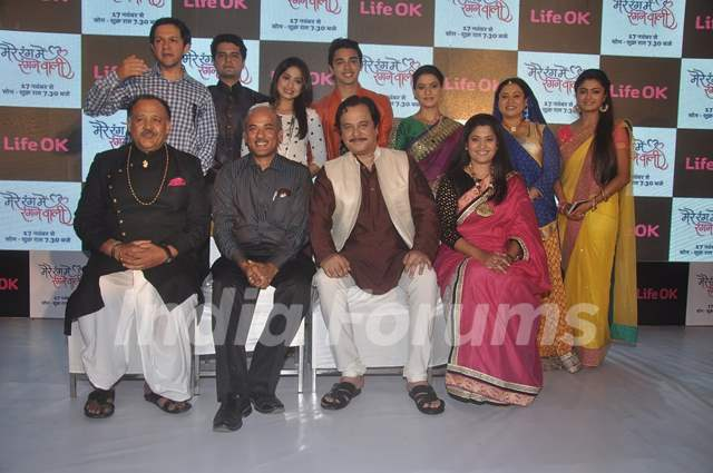 Team of Mere Rang Mein Ranganewali poses for the media at the Launch