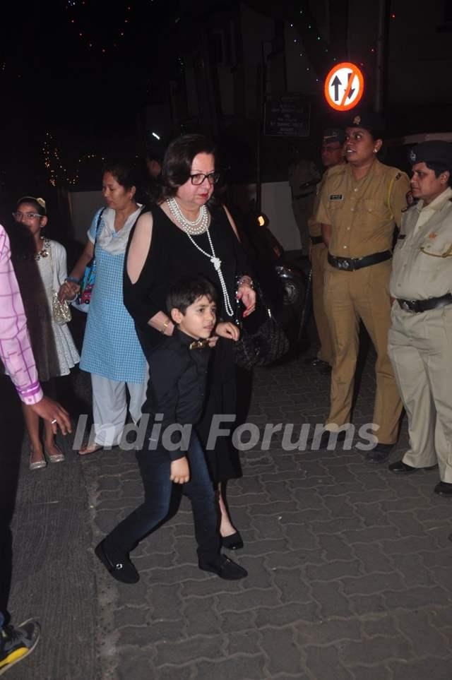 Babita Kapoor was snapped with Grandson at Christmas Bash