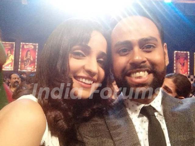 Sanaya Irani with VJ Andy