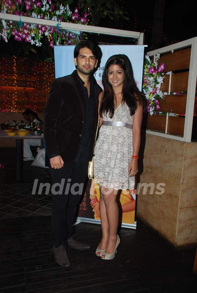 Rahul Sharma and Ishita Dutta pose for the media at the Launch of Servicewali Bahu