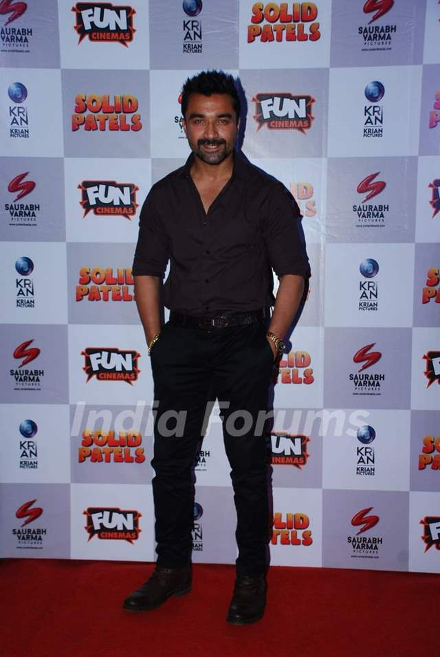 Ajaz Khan poses for the media at the Press Meet of Solid Patels