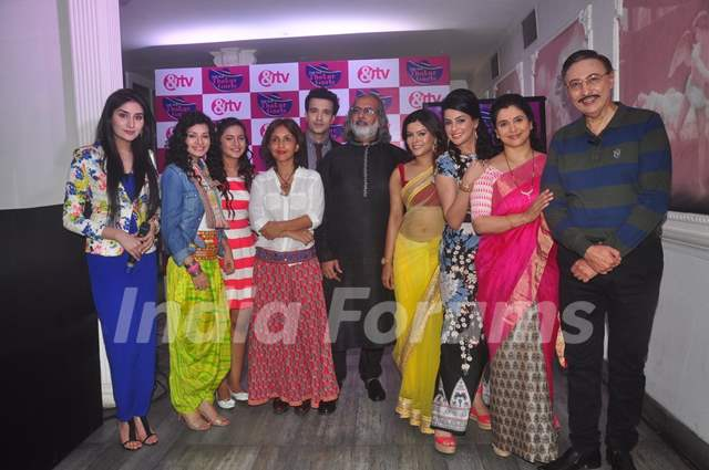 Team poses for the media at the Launch of Dilli Wali Thakur Gurls