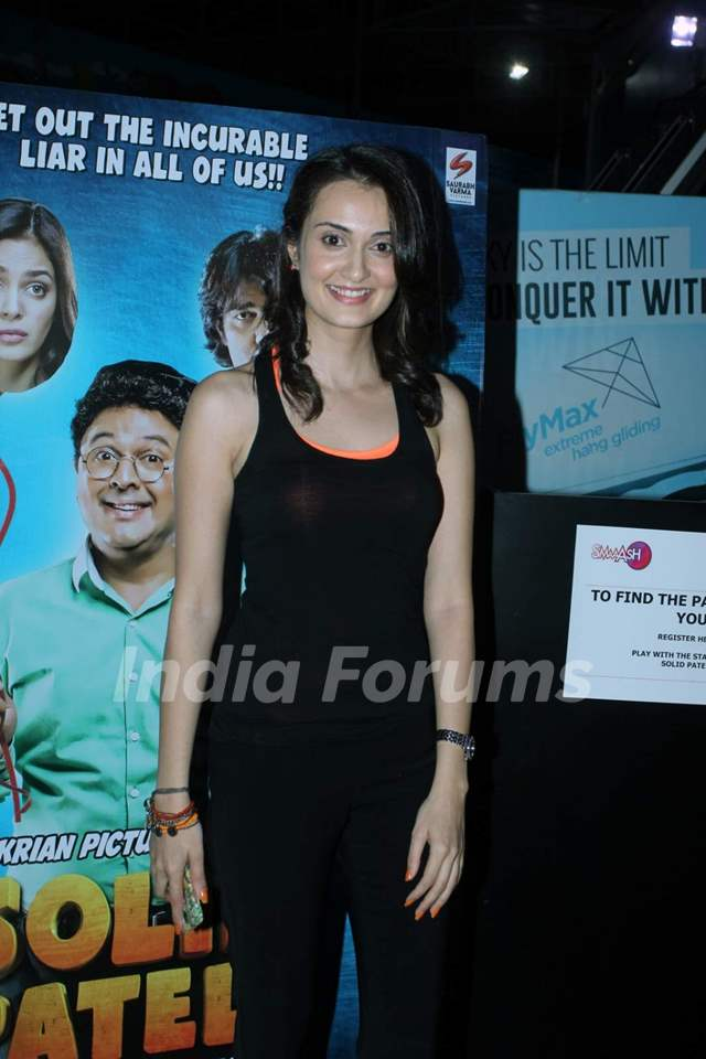 Vaishali Desai poses for the media at the Promotions of Solid Patels