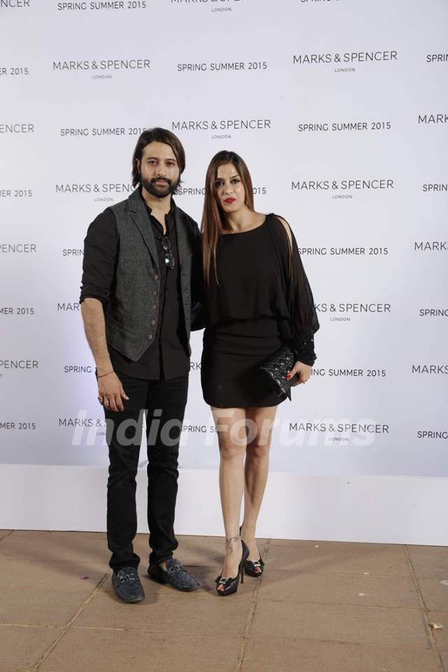 Apurva Agnihotri and Shilpa Saklani pose for the media at Marks & Spencers 2015 Collection Launch