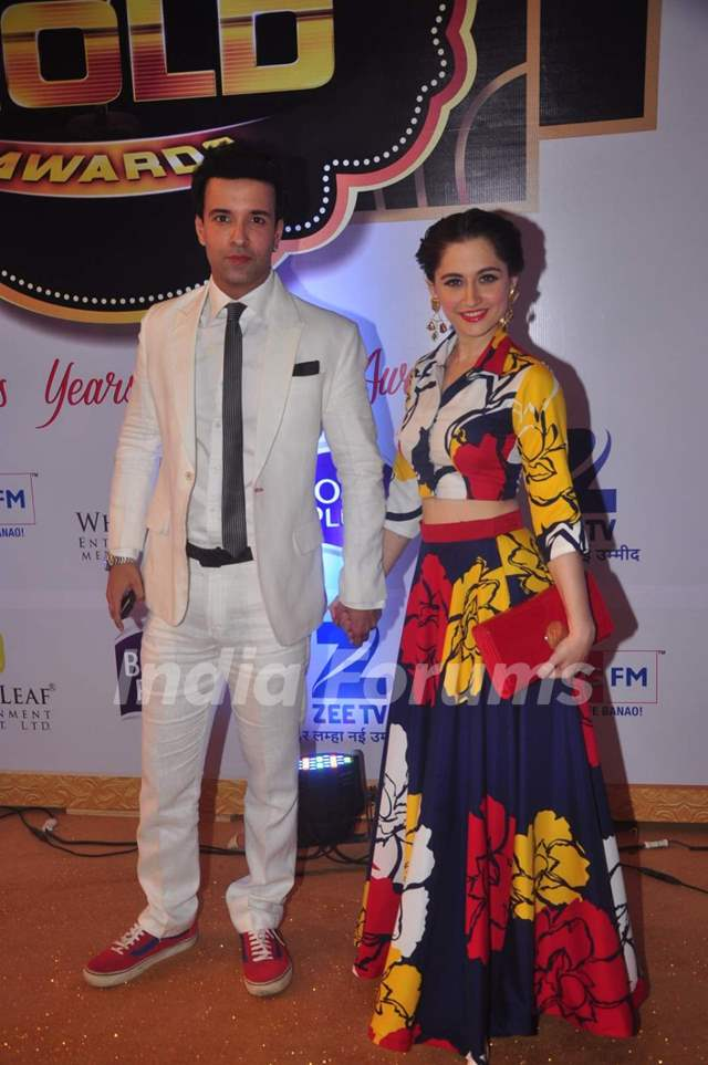Aamir ALi and Sanjeeda Shaikh at Gold Awards
