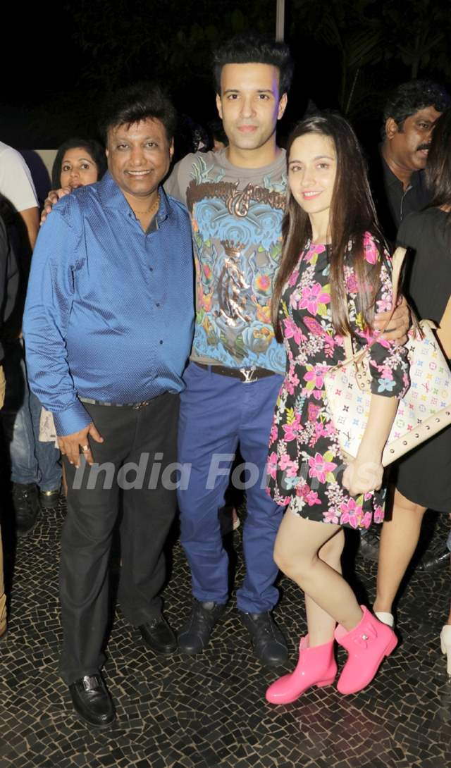 Manik Soni with Aamir Ali and Sanjeeda Shaikh at the Anniversary Celebration