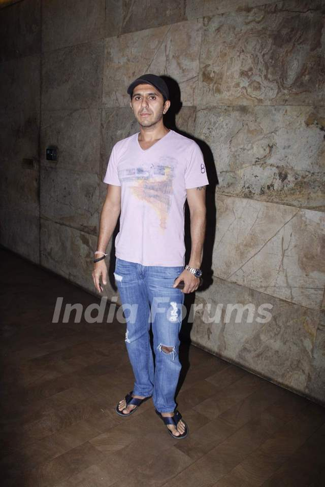 Ritesh Sidhwani poses for the media at the Screening of Bahubali
