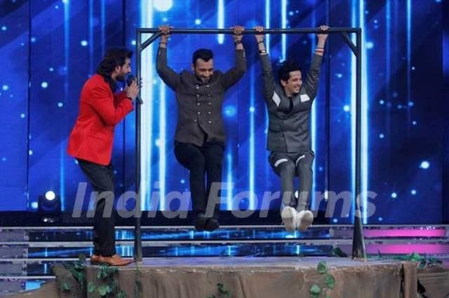 Punit Pathak and Mudassar khan at Dance India Dance Season 5