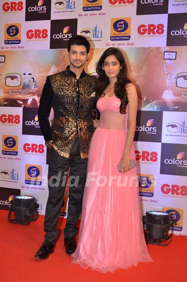 Shakti Arora and Neha Saxena at GR8 ITA Awards