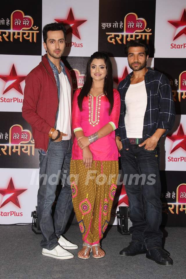Vibhav, Shreetima and Gautam at Launch of Star Plus New Show 'Kuch Toh Hai Tere Mere Darmiyaan'