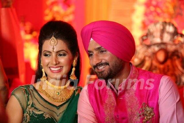 Geeta Basra and Harbhajan Singh's Sangeet Ceremony Picture
