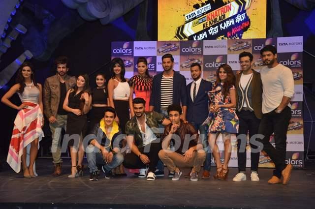 Contestants pose for the media at the Launch of Khatron Ke Khiladi 7