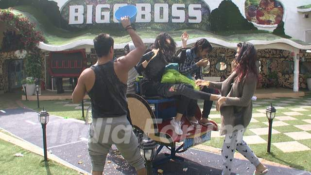 Bigg Boss 9 Nau: Day 31 - Mandana Kicks Kishwer