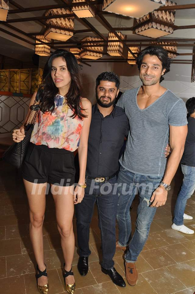 Hanif Hilal and Sonalli Sehgall at Launch of AKA Restaurant