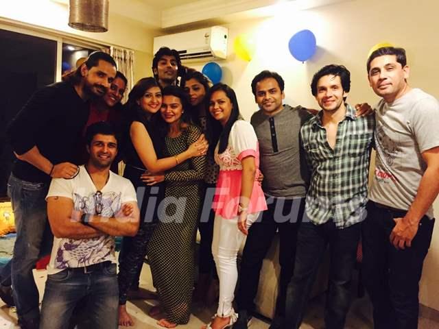 Celebs at Aashka Goradia's surprise Birthday Bash