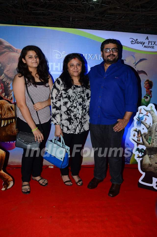 Deven Bhojani with his Family at Special Screening of 'The Good Dinosaur'