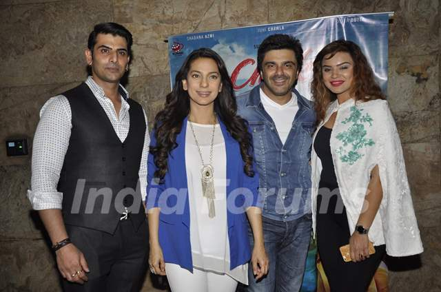Aashka Goradia, Rohit Bakshi, Sameer Soni and Juhi Chawla at Screening of 'Chalk N Duster'