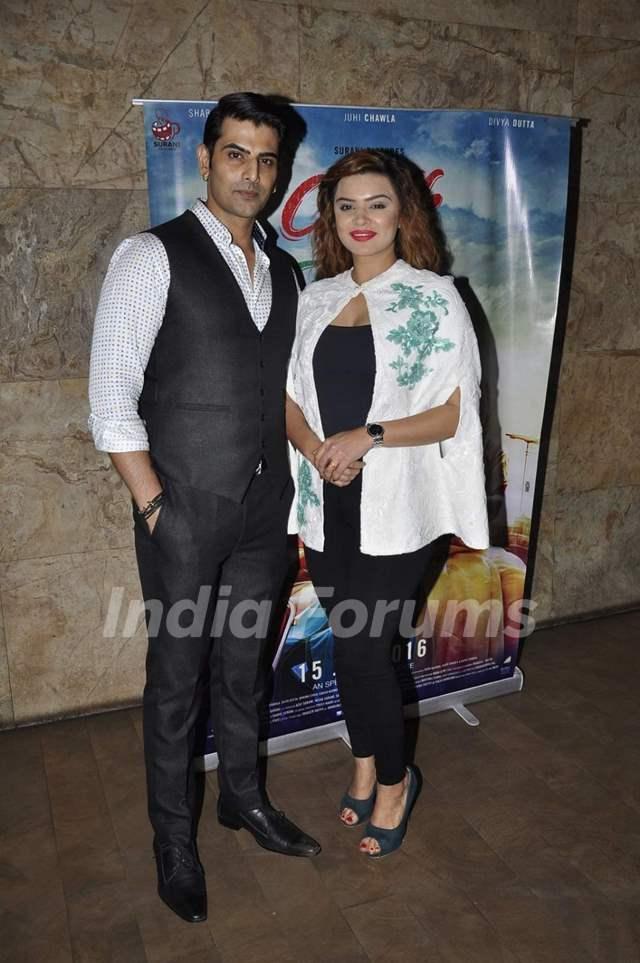 Rohit Bakshi and Aashka Goradia at Screening of 'Chalk N Duster'