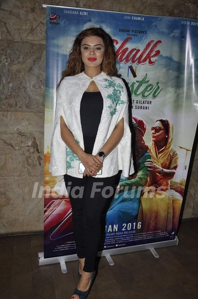 Aashka Goradia at Screening of 'Chalk N Duster'