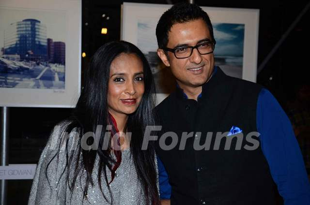 Suchitra Pillai and Sanjay Suri at Unveiling of 'Art Out of The Gallery'