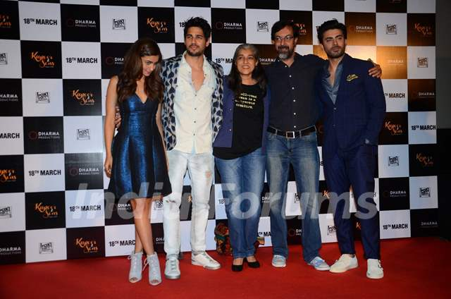 Whole Cast of Kapoor & Sons at Trailer Launch of the Film