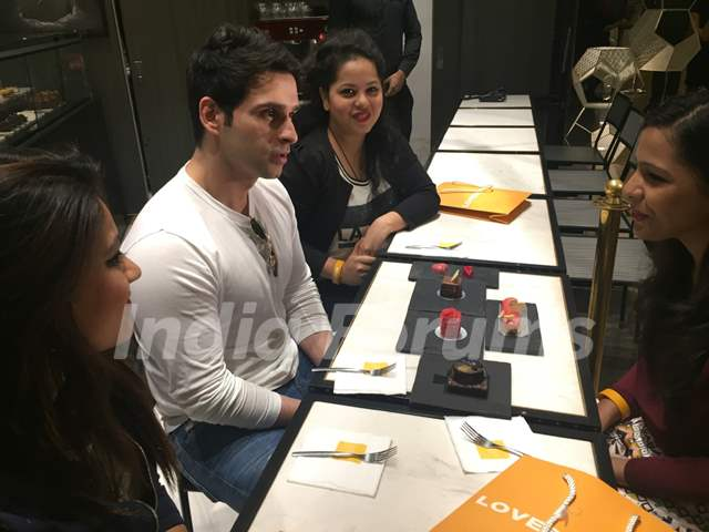Girish Kumar Having a Coffee Date on Valentine's Day with Winners of FCUK contest.