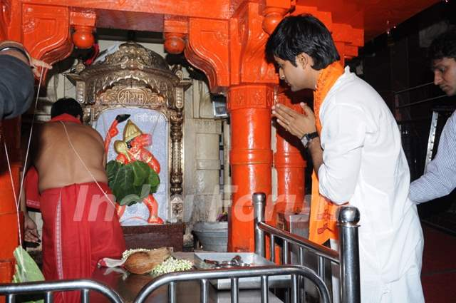 Manish Goel praying