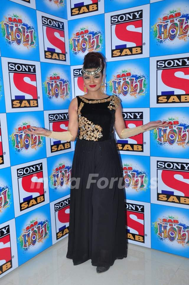 Aashka Goradia at SAB TV Holi Celebrations