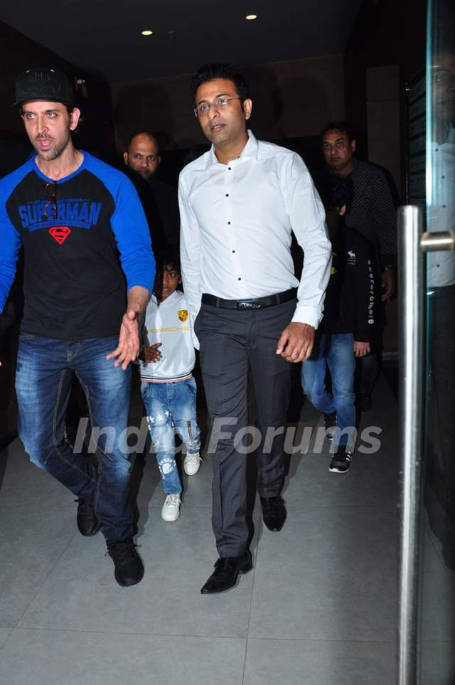 Hrithik Roshan at Special Screening of Batman V Superman