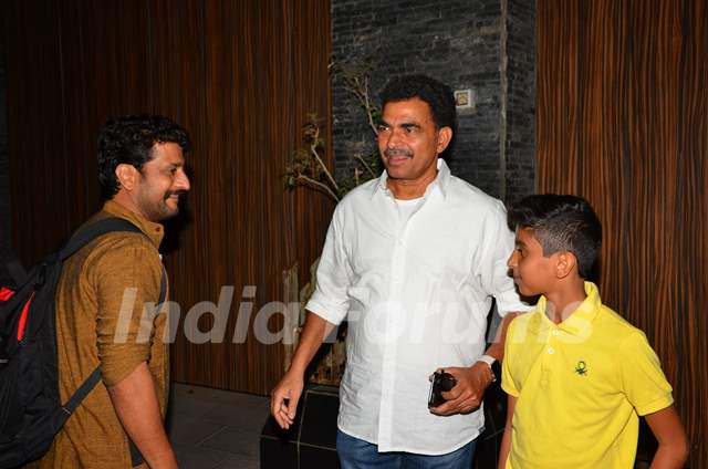 Sayaji Shinde attends a Party at Aamir Khan's Residence