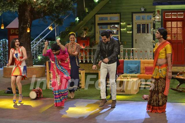 Cast of 'Azhar' Shakes a leg with Kiku Sharda during Promotions of film on 'The Kapil Sharma Show'
