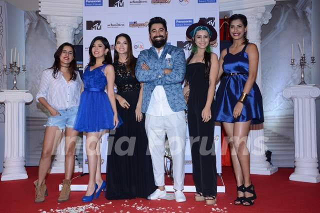 Sunny Leone and Rannvijay Singh at Launch of MTV 'Splits Villa Season 9'