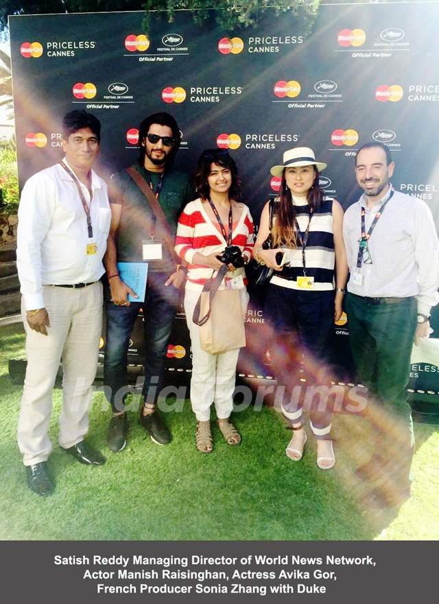 Manish Raisinghan and Avika Gor at Priceless Cannes Event!