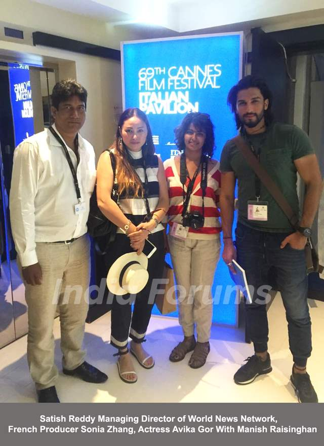 Manish Raisinghan and Avika Gor 69th Cannes Film Festival, Italian Pavilion
