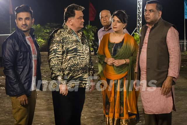 Vir Das, Rishi Kapoor and Paresh Rawal shoots for their upcoming film