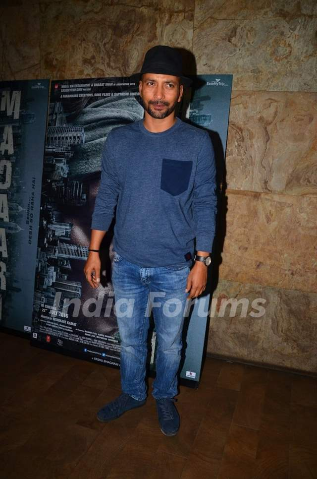 Deepak Dobriyal at the special screening of 'Madaari'