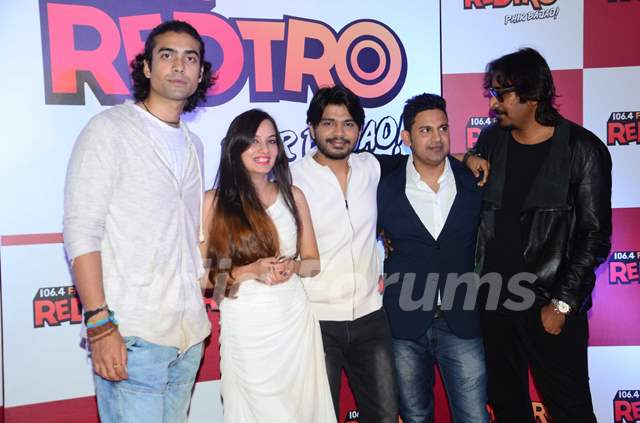Jubin Nautiyal and Ankit Tiwari at Launch of Red FM's new channel 'RedTro 106.4 FM'