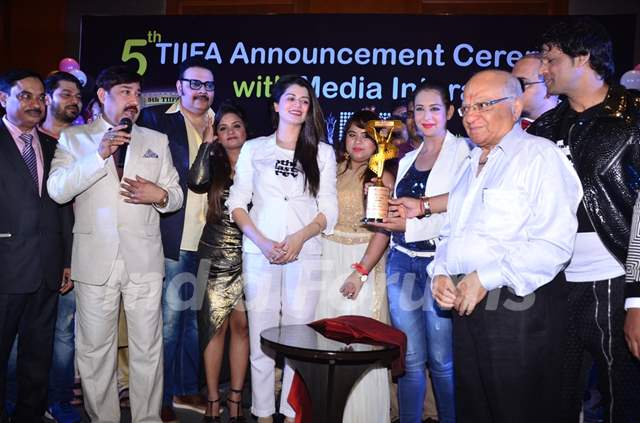 Celebs at 5th 'TIIFA' Award Announcent Ceremony at J W Marriott