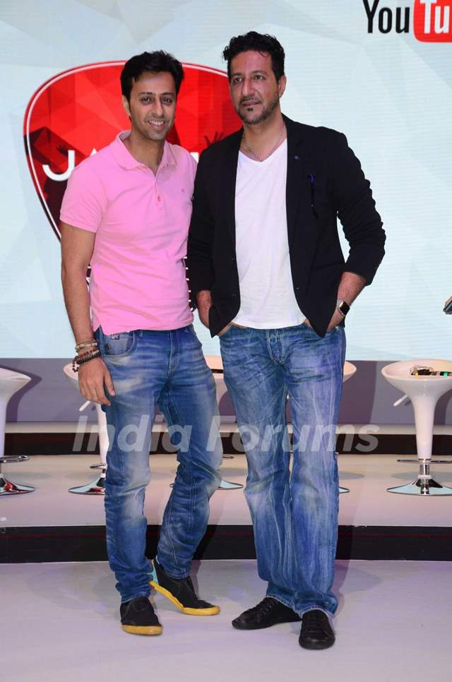Salim Merchant & Sulaiman Merchant at Qyuki musical collaboration with YouTube event